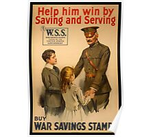 Reprint of a WWI Propaganda Poster Poster