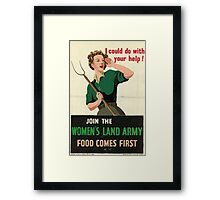 Reprint of a WW2 Recruiting Poster  Framed Print