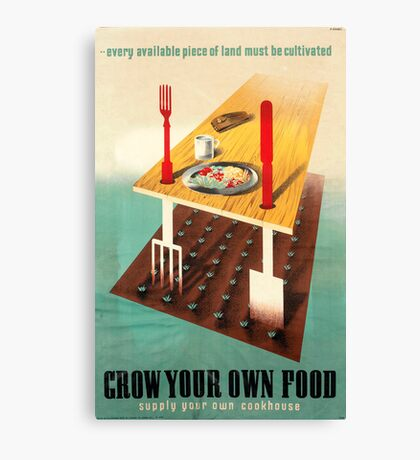 Reprint of a WWII Propaganda Poster Canvas Print