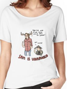Sam is Unamoosed Women's Relaxed Fit T-Shirt