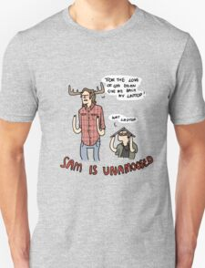 Sam is Unamoosed Unisex T-Shirt