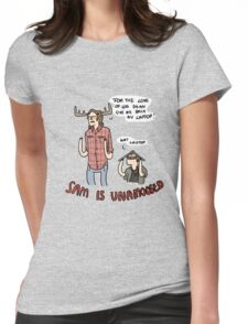 Sam is Unamoosed Womens Fitted T-Shirt