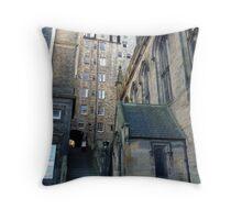 Mylne's Court. Old Town of Edinburgh Throw Pillow