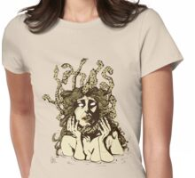 Medusa's Pain brown Womens Fitted T-Shirt