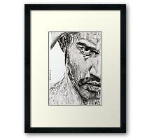 in shower Framed Print