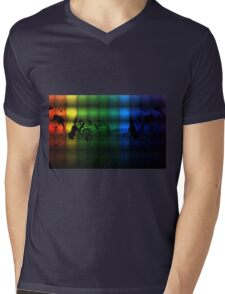 Musical Notes Mens V-Neck T-Shirt