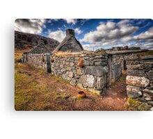 The Ruined Blackhouse Canvas Print