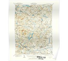 USGS TOPO Map New Hampshire NH Mt Pawtuckaway 330227 1917 62500 Poster