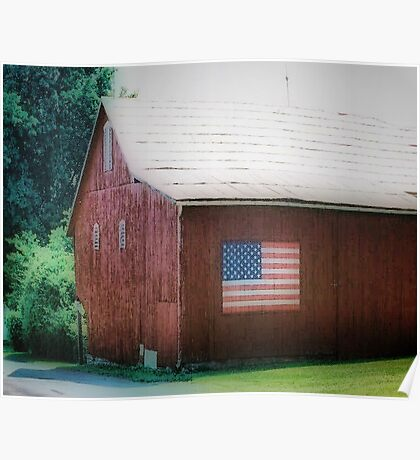 All American Barn Poster