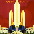 Vintage 1933 Chicago World's Fair Poster by chris-csfotobiz