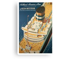 Vintage Ocean Liner Travel Poster Canvas Print