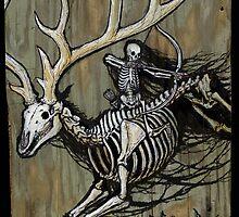 Ghost Elk & Archeress - Gather Bones album cover art by Brian Engh
