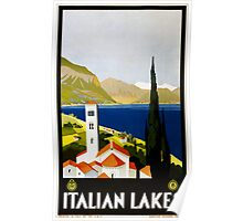Vintage Travel Poster to the Italian Lakes Poster