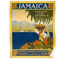 Vintage Travel Poster to Jamaica Poster