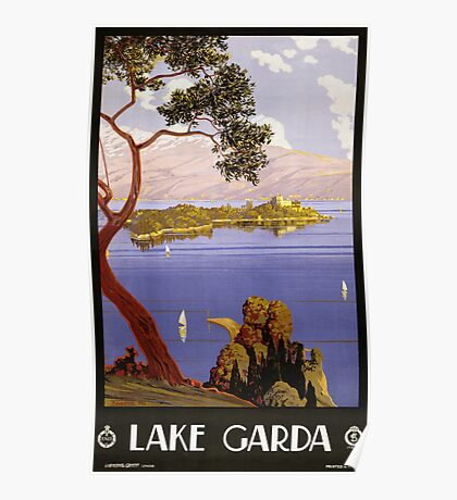 Vintage Travel Poster to Lake Garda Poster