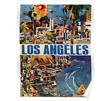 Vintage Travel Poster to LA Poster