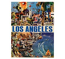 Vintage Travel Poster to LA Photographic Print