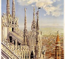 Vintage Travel Poster to Milan by Chris L Smith