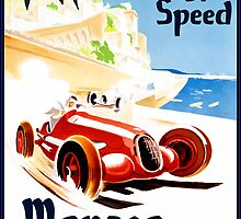Vintage Travel Poster to Monaco by Chris L Smith
