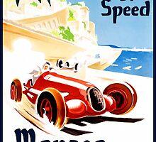 Vintage Travel Poster to Monaco by Chris L Smith