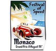 Vintage Travel Poster to Monaco Poster