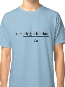 Quadratic Formula Funny Shirt Classic T-Shirt