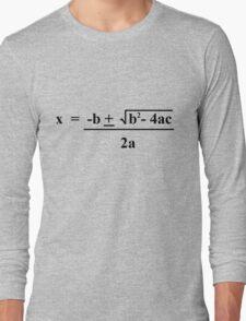 Quadratic Formula Funny Shirt Long Sleeve T-Shirt