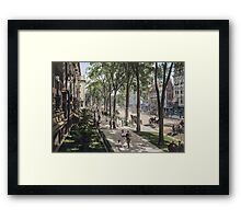 Broadway in Saratoga Springs, New York, ca 1915 (full size) Framed Print