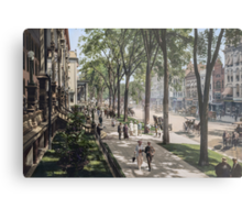 Broadway in Saratoga Springs, New York, ca 1915 (full size) Metal Print
