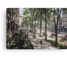 Broadway in Saratoga Springs, New York, ca 1915 (full size) Canvas Print