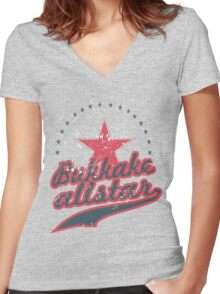 all star Women's Fitted V-Neck T-Shirt