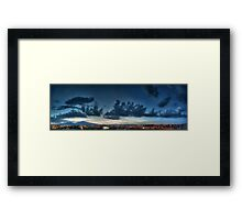 ©HCS Blue Clouds At Night In HDR Framed Print