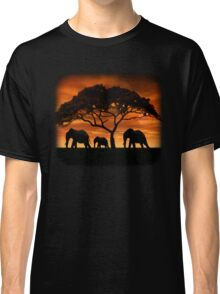 Elephant Sunset Classic T-Shirt