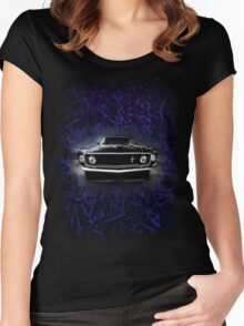 1969 FORD MUSTANG. Women's Fitted Scoop T-Shirt