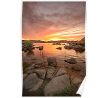 Sunset and Stones Poster
