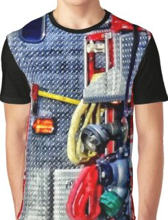 Fire Truck With Hoses and Ax Graphic T-Shirt