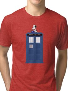 Snoopy Doctor Who Tri-blend T-Shirt