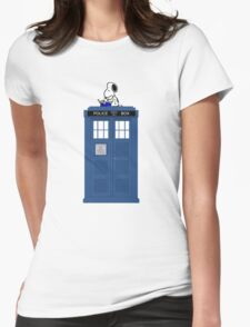 Snoopy Doctor Who Womens T-Shirt