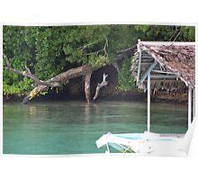 Vanuatu - Floating hut Poster