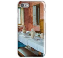 Dining table of the rich medieval shipowner - Walraversijde iPhone Case/Skin