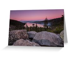 Emerald Bay Dusk Greeting Card
