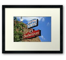 Route 66 - Ariston Cafe Neon Framed Print