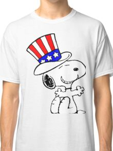 Snoopy Uncle Sam Classic T-Shirt