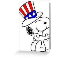 Snoopy Uncle Sam Greeting Card