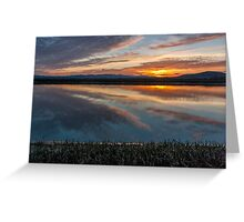 Sunset on Highway 37 Greeting Card