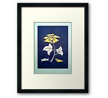 Dream Flower blue Framed Print