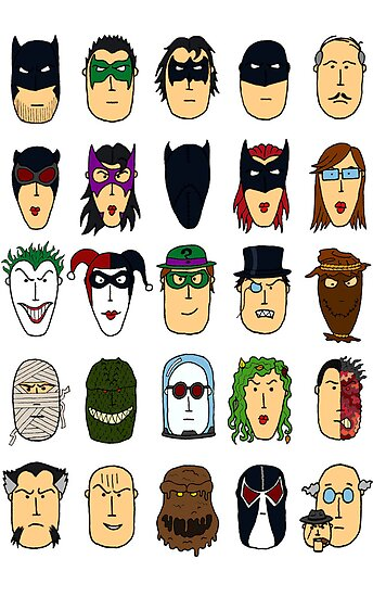 Batman Heroes & Villains by Joshessel
