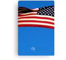 America, Where you can dream as high as the moon Canvas Print