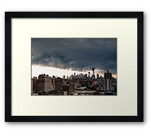 New York City Under Stormy Sky Framed Print