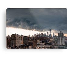 New York City Under Stormy Sky Metal Print